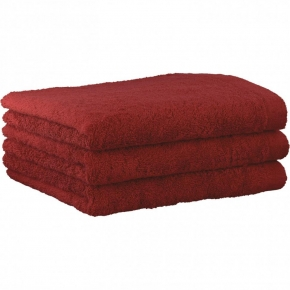 "Хлопковые полотенца.          Полотенце CAWO ""Life Style"" 7007 Бордо"