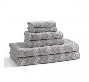 Текстиль для детей: полотенца, халаты, постельное бельё и др.. Полотенце банное Wavy Hippo Grey BWV-109-HPG