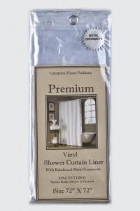 Шторки для душа и ванны текстильные. Защитная шторка Premium 4 Gauge Super Clear прозрачная