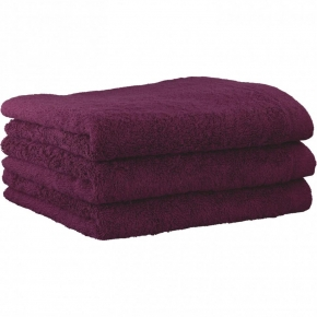 "Хлопковые полотенца.          Полотенце CAWO ""Life Style"" 7007 Сиреневый"