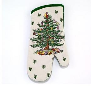 Прихватки, варежки для кухни. Прихватка-рукавица Spode Christmas Tree 21523OM