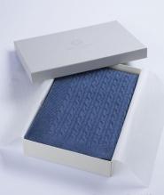 Текстиль для детей: полотенца, халаты, постельное бельё и др.. Плед 100% кашемир Синий меланж 84х140 см от Fiori di Venezia
