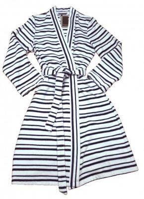 Халаты Одежда для бани и сауны.         Халат женский 3494. Синяя полоска