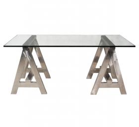 Столы для офиса, кабинета. Стол письменный A-Frame Glass Top