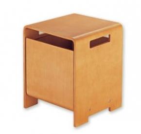 Мебель и Аксессуары для ванной из натурального дерева, Раттана и Бамбука. OTTO Nicol табурет с ящиком деревянный