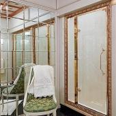 Душевые кабины Створки стеклянные Шторки для душа. Lineatre Princess PM1200A Душевая дверь в нишу 120хh200 см