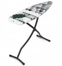 Гладильные доски. Гладильная доска 135х45см (размер D) с силиконовой жаропрочной подставкой для утюга, цвет каркаса Black чёрный