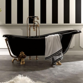 Ванны на ножках. Ванна Kerasan Retro 1052 (чёрная)