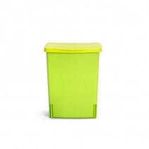 Мусорные баки и вёдра для кухни. Ведро для мусора Brabantia встраиваемое квадратное 10 литров Lime Green лимонно-зеленый