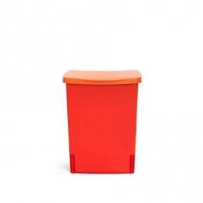 Мусорные баки и вёдра для кухни. Ведро для мусора Brabantia встраиваемое квадратное 10 литров Lipstick Red красное