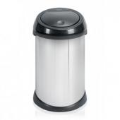 Мусорные баки и вёдра для кухни. Мусорный бак Brabantia Touch BinВ® 50 литров Brilliant Steel/Plastic Lid полированная сталь/пластиковая крышка