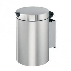 Мусорные баки и вёдра для кухни. Ведро для мусора Brabantia настенное (3л) - Matt Steel (матовая сталь)