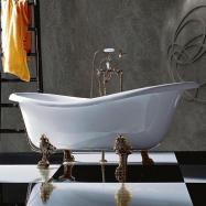 Ванны на ножках. TW 176 Ванна на лапах, белый/бронза