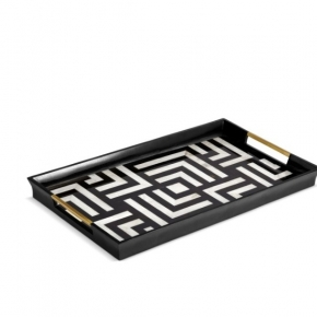 . Поднос Dedale Black&White Tray - Large