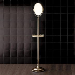 . Напольное косметическое зеркало двухстороннее с увеличением 1х2 Devon&Devon Single золото