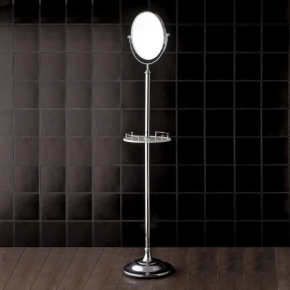 . Напольное косметическое зеркало двухстороннее с увеличением 1х2 Devon&Devon Single хром