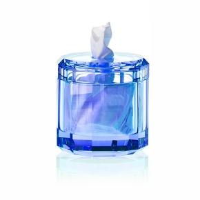 Салфетницы настольные настенные. Kristall Saphirre blue Настольные аксессуары для ванной хрустальные синие салфетница Decor Walther