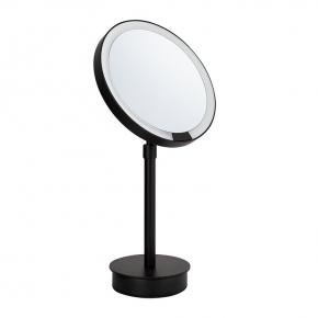 Decor Walther Just Look SR чёрное настольное косметическое зеркало с подсветкой LED и увеличением х5