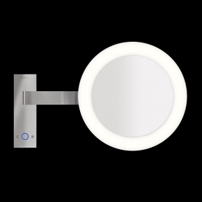 Зеркала косметические с подсветкой увеличением настенные настольные Зеркала с присосками. ALISEO зеркало Led MOON DANCE с подсветкой и увеличением х3 настенное T3