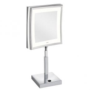 Зеркала косметические с подсветкой увеличением настенные настольные Зеркала с присосками. ALISEO зеркало LED CUBIK LIMITED квадратное с подсветкой и увеличением х3 настольное