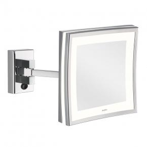 Зеркала косметические с подсветкой увеличением настенные настольные Зеркала с присосками. ALISEO зеркало LED CUBIK LIMITED квадратное с подсветкой и увеличением х3 настенное