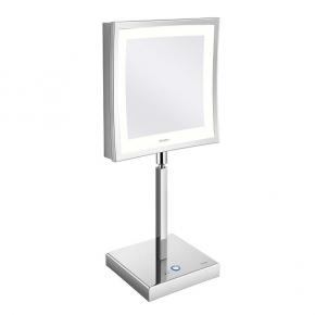 Зеркала косметические с подсветкой увеличением настенные настольные Зеркала с присосками. Aliseo LED CUBIK T3 косметическое зеркало с увеличением х3 и подсветкой настольное