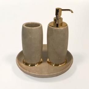 . Elegance Gold Botticino мраморные аксессуары для ванной настольные Золото