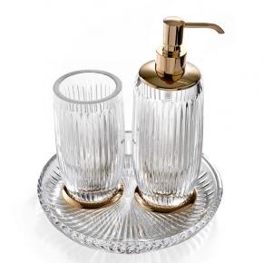 Elegance Gold хрустальные аксессуары для ванной Золото