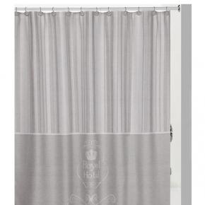 Шторки для душа и ванны текстильные. Creative Bath Royal Hotel шторка для душа и ванны серый/бежевый полиэстер