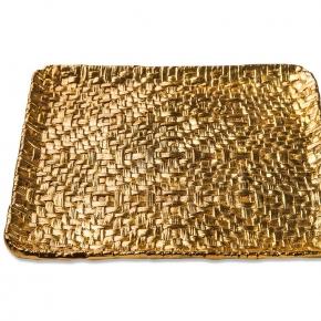 . Michael Aram Пальмовая ветвь лоток поднос Золото