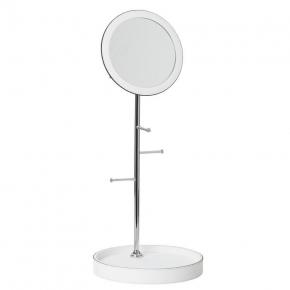 Arborea настольное зеркало с лотком и держателями Белое