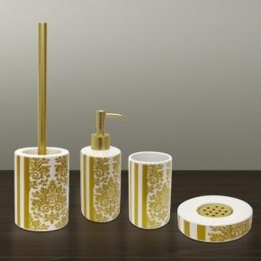 РАСПРОДАЖА. Gloria Nicol аксессуары для ванной керамические с золотым декором