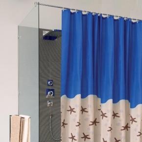 Шторки для душа и ванны текстильные. KARIBIK шторка для ванны и душа текстильная