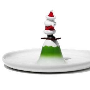 Новый Год. Блюдо Scia Natalino для печенья белое