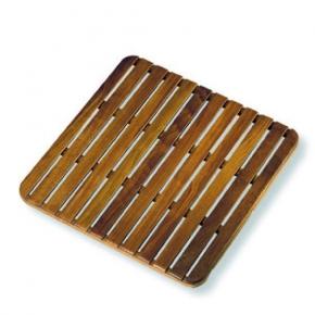 Деревянные коврики и решётки для душа и ванной комнаты. Деревянная решетка для ванной Teak дерево 60х60 тиковая