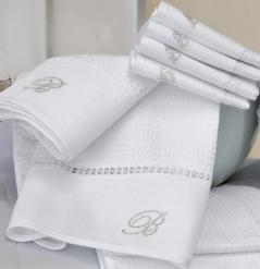 Полотенца хлопковые Deluxe. Комплект полотенец для лица и рук (40х60; 60х110) Cheryl (Черил) Белый от Blumarine