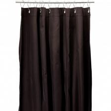 Шторки для душа и ванны текстильные. Текстильные шторки для ванны и душа Коричневая Brown