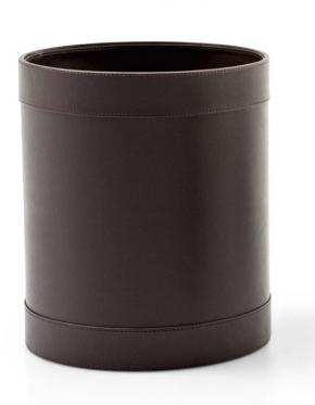 . Ведро кожаное Calligaris Bert коричневое с декором
