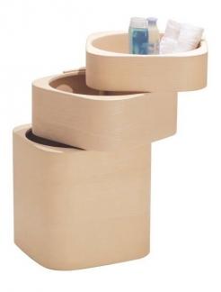 . Этажерка для ванной и интерьера Buk Q деревянная