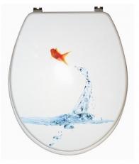 Сиденья для унитаза с крышкой. GOLDFISCH белое сиденье для унитаза с микролифтом декор Золотая рыбка
