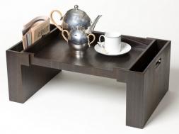 Аксессуары и Мебель для дома. Wood Collection деревянный столик для постели Дуб Smoked
