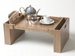 Аксессуары и Мебель для дома. Wood Collection деревянный столик для постели Орех