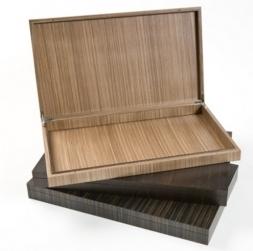 Мебель и Аксессуары для ванной из натурального дерева, Раттана и Бамбука. Wood Collection Box деревянная шкатулка для iPad и пультов Орех большая