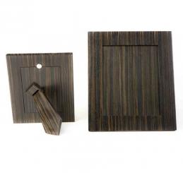 Мебель и Аксессуары для ванной из натурального дерева, Раттана и Бамбука. Wood Collection Frame рамка для фотографий деревянная Эбеновое дерево Dark