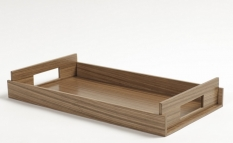 . Wood Collection лоток поднос деревянный Орех Medium
