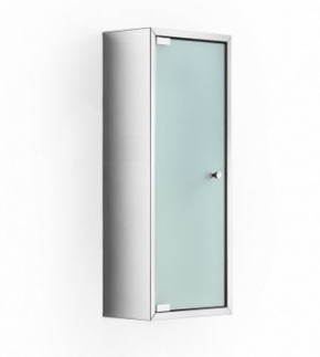 Зеркальные шкафчики Аптечки. Шкаф со стеклянной дверцей и полкой настенный PIKA Lineabeta 60