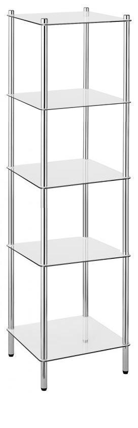 Этажерки для ванной. MAXIMO Nicol этажерка стеклянная для ванной 5 полок квадратная