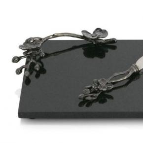 . Доска для сыра с ножом 32 см «Черная орхидея»
