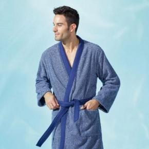 Халаты Одежда для бани и сауны Deluxe. Халат кимоно мужской (M; L; XL;) Neptune (Нептун) от Yves Delorme