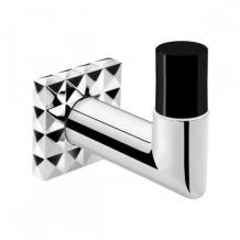 . Аксессуары для ванной настенные Heritage крючок чёрный хрустальный